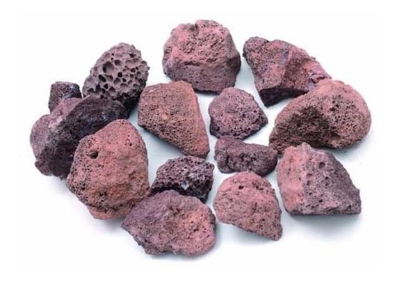 Pedra Vulcânica Marron Para Lareira Ou Churrasqueira 2kg