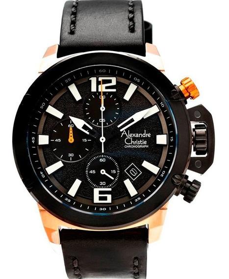 Reloj Alexandre Christie Sport Crono Original 6487mclbrba