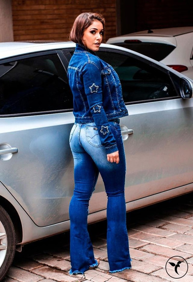Calça Jeans Flare Destroyed Tamanho 40 Desfiada Consciencia