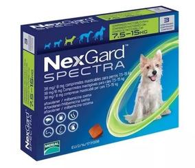 Nexgard Spectra 7.6 A 15kg Para Pulgas Y Garrapatas