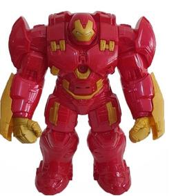 Boneco Hulk Buster Avengers 30cm C/ Luz E Som - Articulado