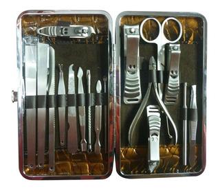 Set Manicure Pedicure 17 En 1 - Kit Acero Inoxidable