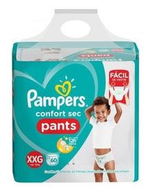 Fralda Pampers Confort Sec Pants Bag Xxg 60 Unidades