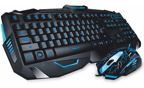 Teclado E Mouse Led Gamer Multilaser Lightning Tc195