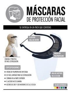Máscara Protector Facial Reutilizable Barbijo Entrega Rapida