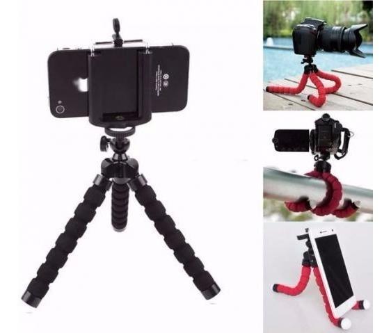 Mini Tripé Flexível Para Celulares, Gopro, Câmeras Digitais