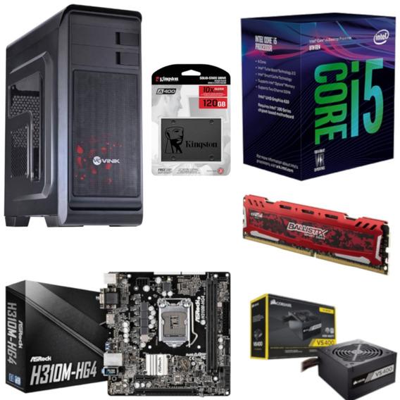 Pc Hunter Intel I5 8400 Mb H310m Hg4 Bl 4gb Vs400 Ssd 120gb