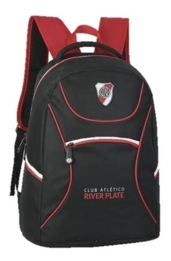 Mochila River Plate Licencia Oficial Escolar Futbol 18 Pulga
