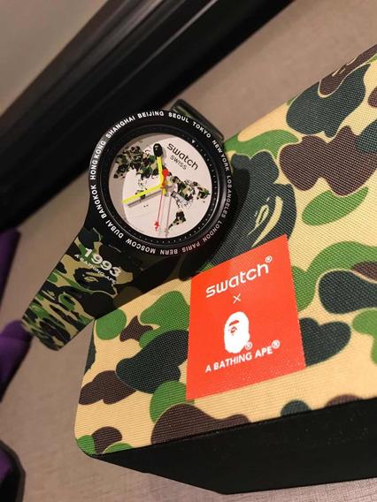 Relógio Swatch X Bape