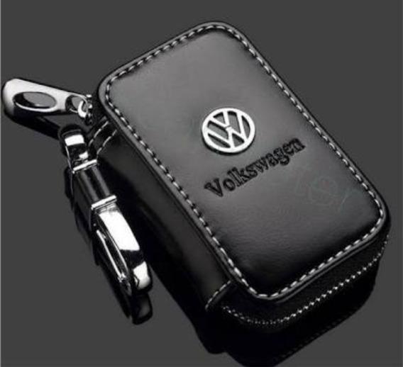 Capa Em Couro Case Luxo Chaveiro Personalizado Volkswagen