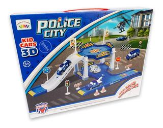 Juguete Juego Set De Armado Ciudad Policial Policía 3d Coche