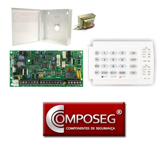 Kit Alarme Paradox Sp4000 Com Teclado K10