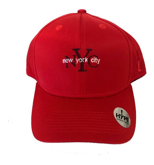 Boné Aba Curva Snapback Nyc New York City Vermelho