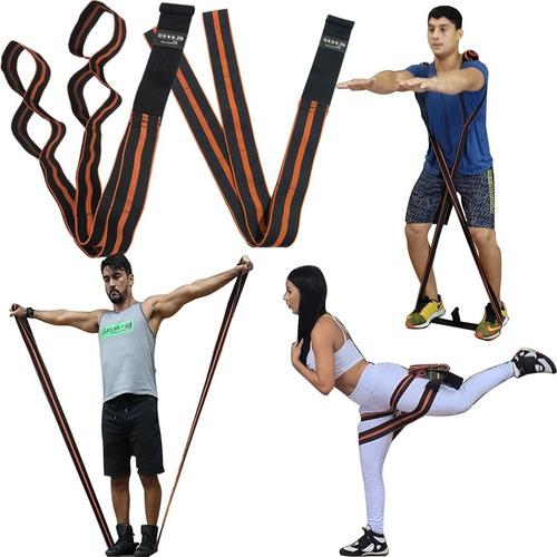 Imagem 1 de 10 de Elástico Cinta Para Treino Exercícios Em Casa, Seguro 25kg