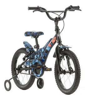 Bicicleta Infantil Tito T16 Camuflada Aro 16 Azul