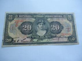 Cédula De 20 Mil Réis De 1927 R 185 Mbc+ Série 6a