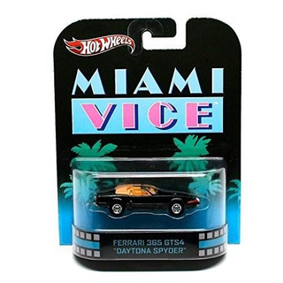 Hot Wheels Retro Miami Vice 1 55 Die Cast Car Ferrari 365 Gt