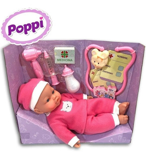 Muñeco Bebote Vamos Al Doctor C/accesorios Sonido Nenas