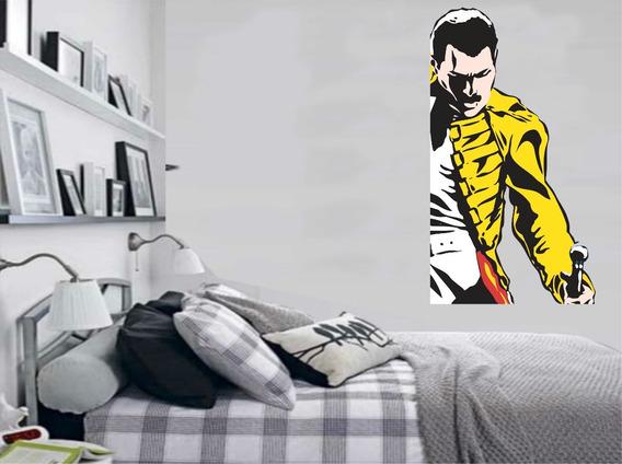 Adesivo De Parede Música Rock Freddie Mercury Banda Queen