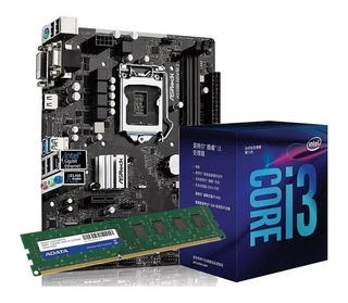 Combo Actualización Intel Core I3 8100 Mother H310m Msi 8gb