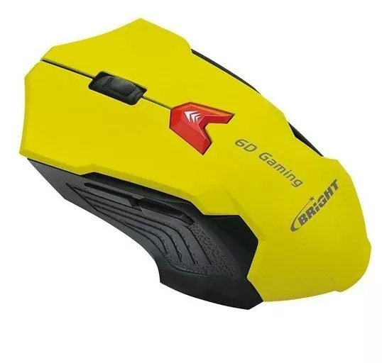 Kit 25 Mouse Gamer Bright 0375 Amarelo + Nf