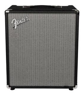 Amplificador Fender Rumble 100 100W transistor negro y plata 120V