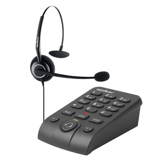 Telefone Intelbras Headset Com Base Discadora Hsb 50 Preto