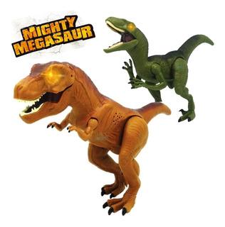 Dinosaurio Con Luz Y Sonido Juego P Niños Pila Incluídas