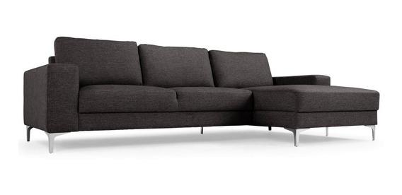 Sofá 2 Lugares + Chaise Sofá De Fabrica Sob Medida