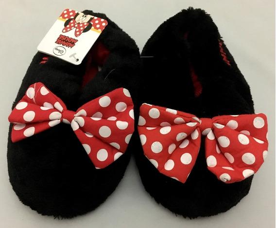 Pantufa Infantil Pata Da Minnie Mouse Disney - Tamanho 32/33