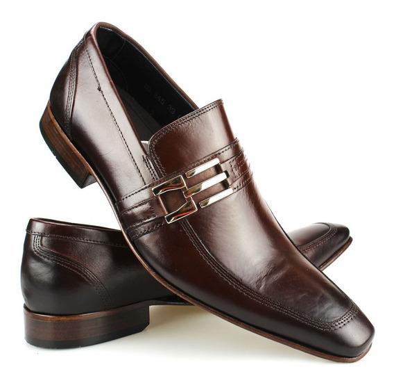 Sapato Social Masculino Bigioni Solado De Couro Legítimo