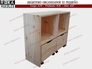 Juguetero Baul Organizador Biblioteca Estante Cubox2 Pequeño