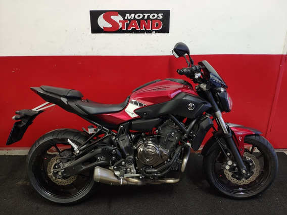 Yamaha Mt-07 Mt07 Mt 07 Abs 2017 Vermelha Vermelho