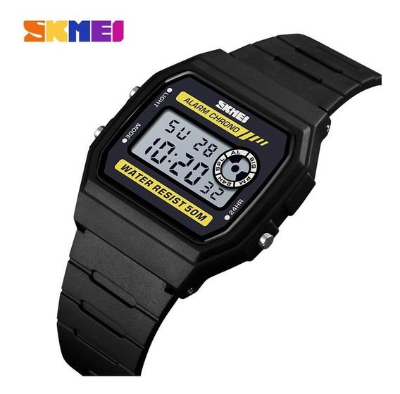 Relógio Unissex Digital Resistente A Água Skmei 1413 Novo Pr
