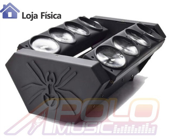 Spider Moving Beam 8 Led 12w Quadriled Rgbw Dmx Loja