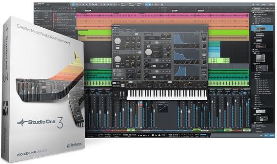 Studio One 3+pacote De Plugins Mix/master Win/mac!