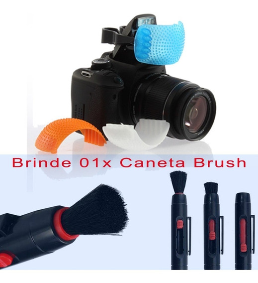 Difusor Tres Cores Para Flash Popup + Brinde Caneta Brush