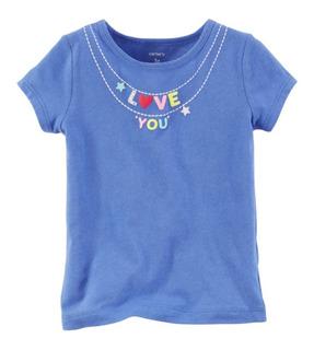 Playera Azul I Love You Carters Talla 3