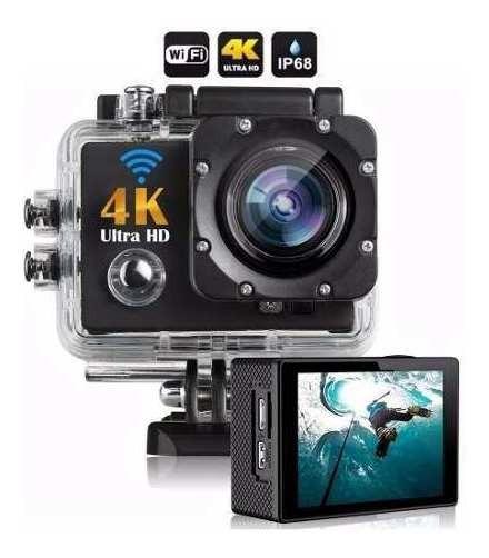 Camera 4k Action Cam Go Sports Pro Full Hd 1080p Wi-fi