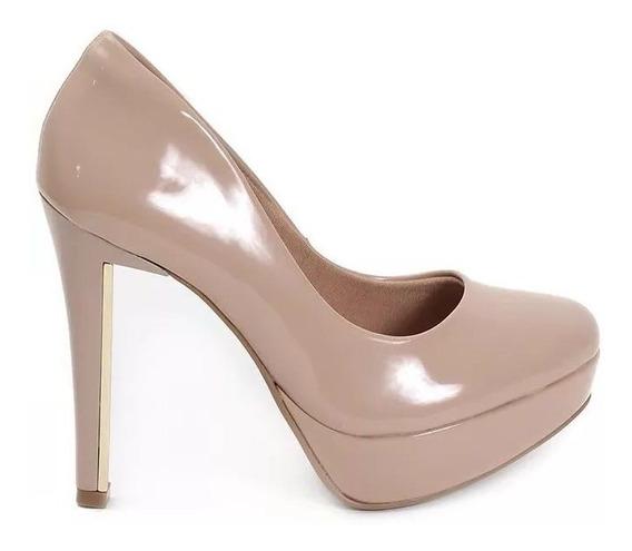 Zapatos Mujer Nude Charol Vía Marte 18-3655 Importados