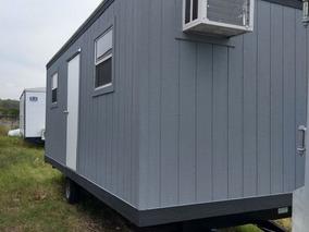 Oficina Movil De 8x24 Pies Remolque Caseta Camper Wc