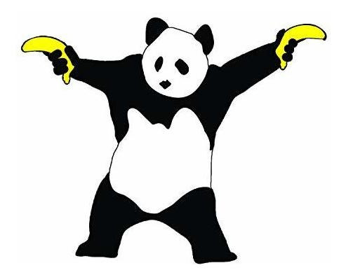 Imagen 1 de 1 de C&d Visionary Banksy's Graffiti Panda Banana Pegatina, Multi