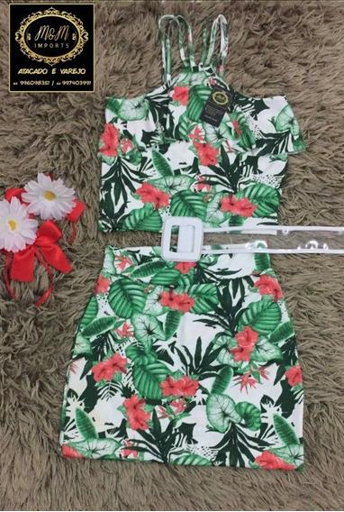 Moda Feminina/conjunto Vestido Macaquinho/kit 10 Peças