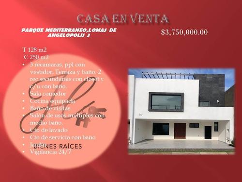 Imagen 1 de 3 de Casa Nueva En Venta Parque Mediterraneo Lomas De Angelopolis