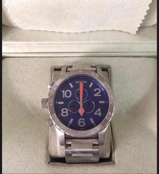 Relógio Nixon 51-30 Prata Azul (sem Bateria)