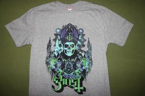 Gusanobass Playera Rock Metal Ghost Gris Talla X L