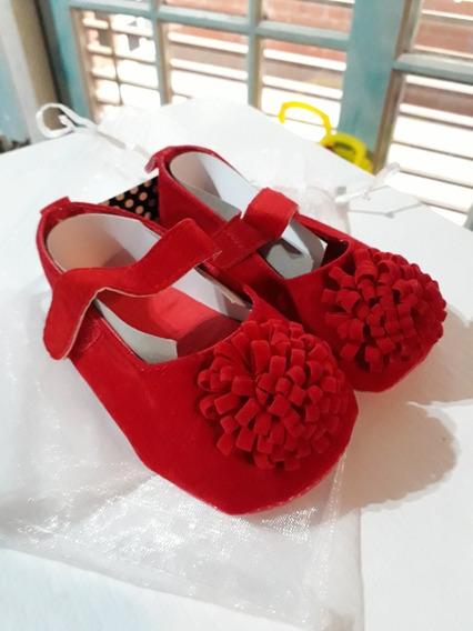 Hermosos Zapatos De Nena Rojo