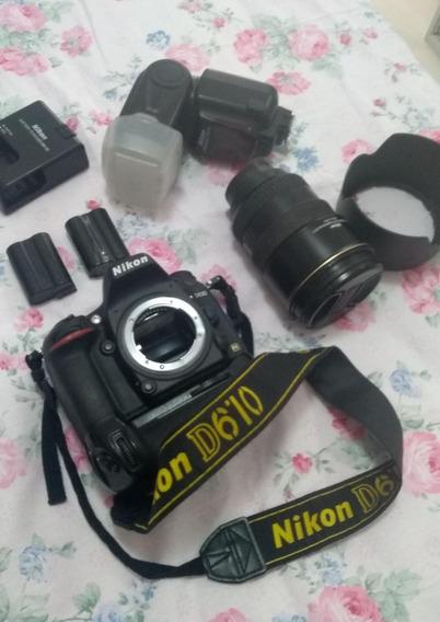 Câmera+grip Nikon D 610 Completa