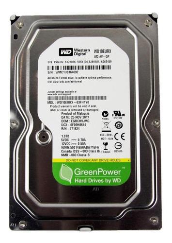 Disco rígido interno Western Digital WD AV-GP WD10EURX 1TB