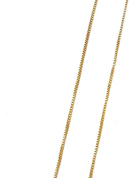 Corrente Elo Veneziano 40cm Ouro Amarelo 18k 750 J20876